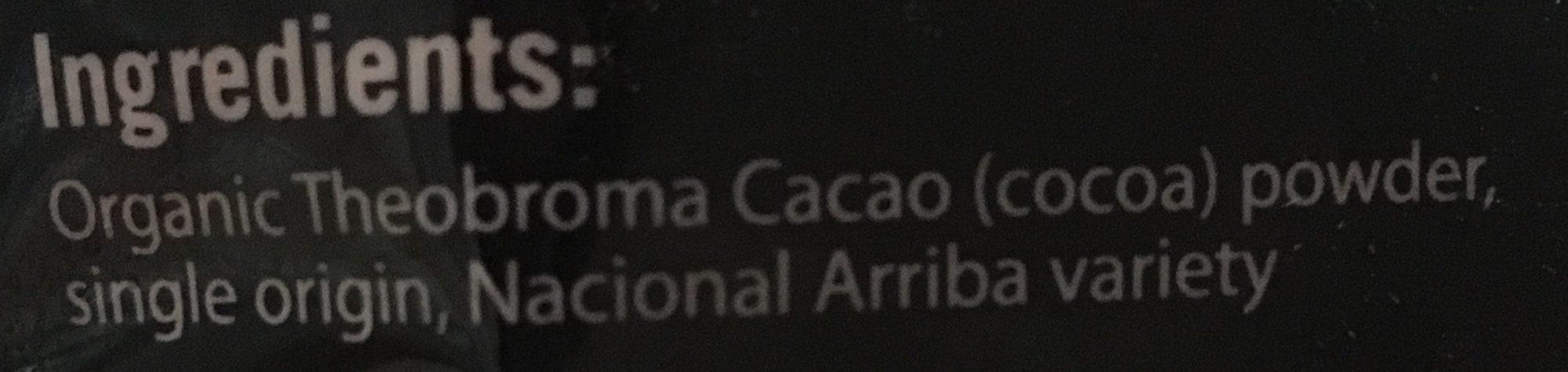 Choc chick raw cocoa powder - Ingrédients - fr