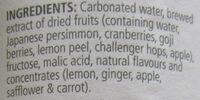 KOJI Lemon & Ginger - Ingrediënten