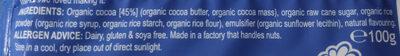Organic Original Bar 45% Cocoa - Ingredients - en