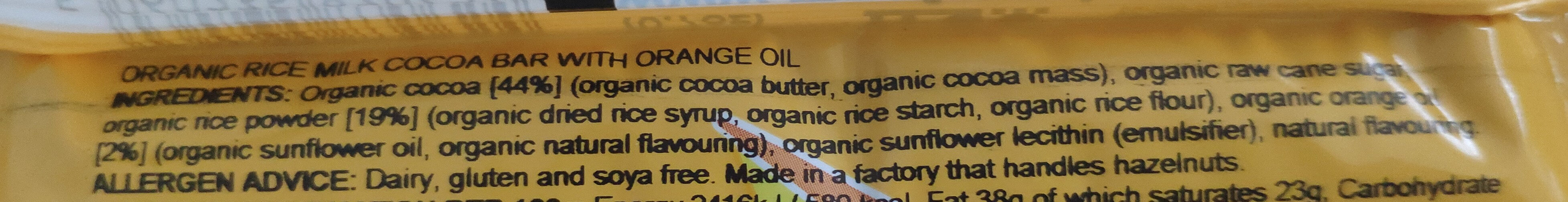 Cheeky Orange - Ingrediënten - en
