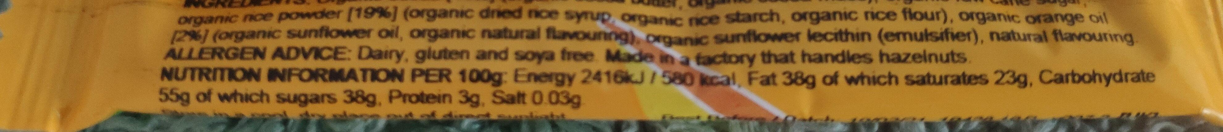 Cheeky Orange - Voedingswaarden - en
