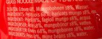 Glass Noodles - Ingredients