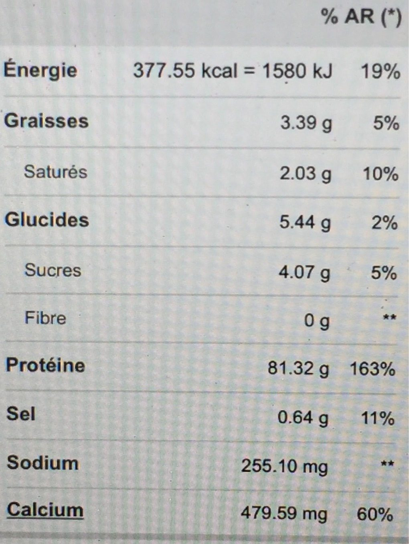Optimum Nutrition 100% Whey Gold Standard Protein Peanut Butter Chocolate, Pulver - Voedingswaarden - fr