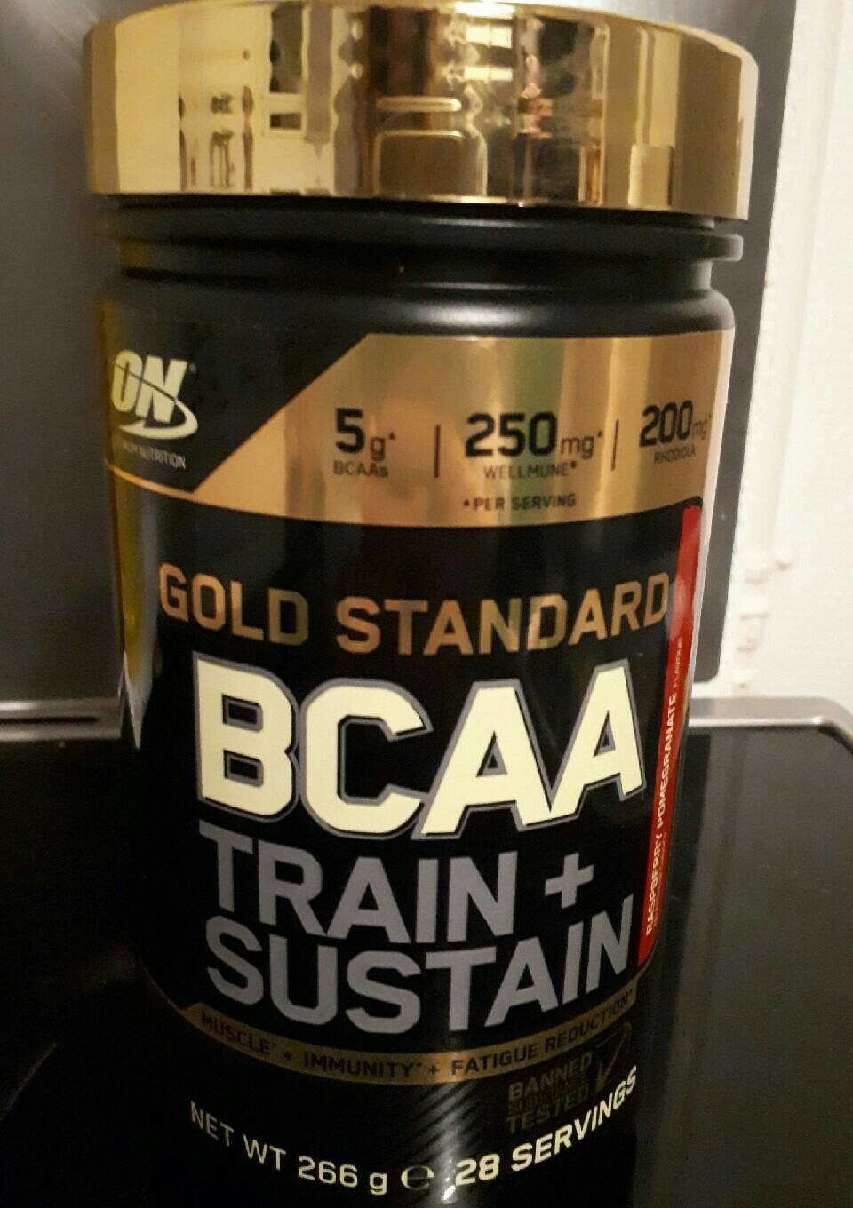 Optimum Nutrition 266 g Raspberry And Pomegranate Gold Standard Bcaa Powder - Product - fr