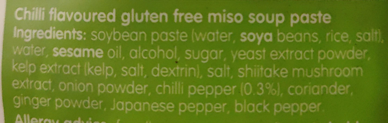 Miso' Easy Chilli Miso 3 x (60g) - Ingredients - en