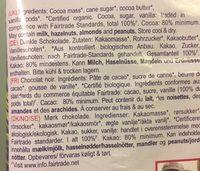 Tablettes De Choc Noir Panama - Ingredients