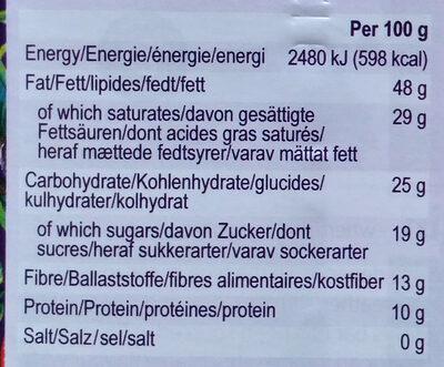 Panama 80% single origin dark chocolate - Informations nutritionnelles - en