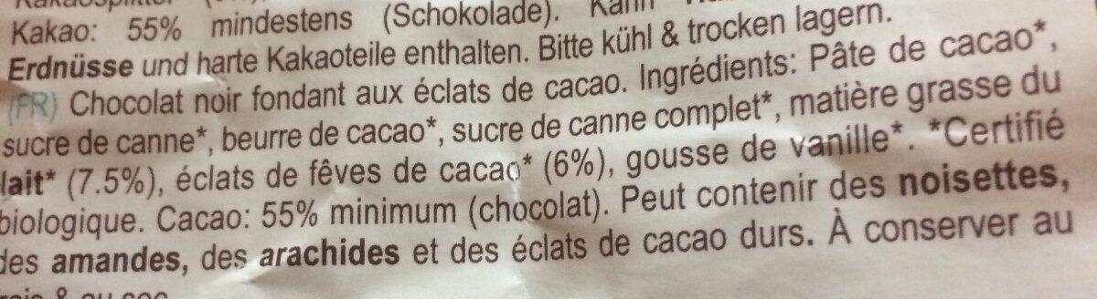 Creamy Dark 55% & cacao nibs - Ingredients