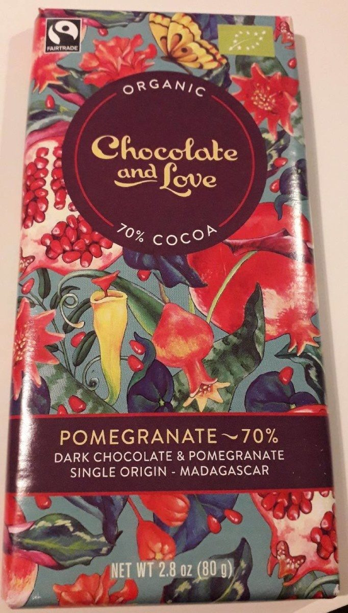 Pomegranate 70 Bio Chocolate And Love 80 G