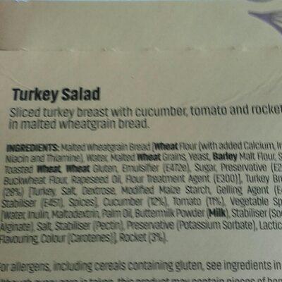 turkey sandwich - Ingrédients - en