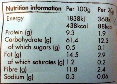 Proper Corn - Popcorn Done Properly - Lightly Sea Salted - Voedingswaarden