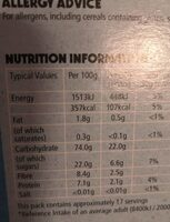Honey Monster wheat puffs - Nutrition facts