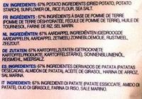 Original Potato Chips - Ingrédients