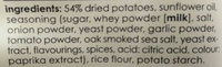 Barbeque potato chips - Ingredients