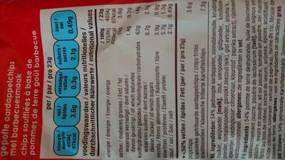 Barbeque - Voedingswaarden