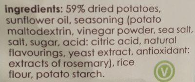 Sea Salt & Vinegar Potato Chips - Ingrédients