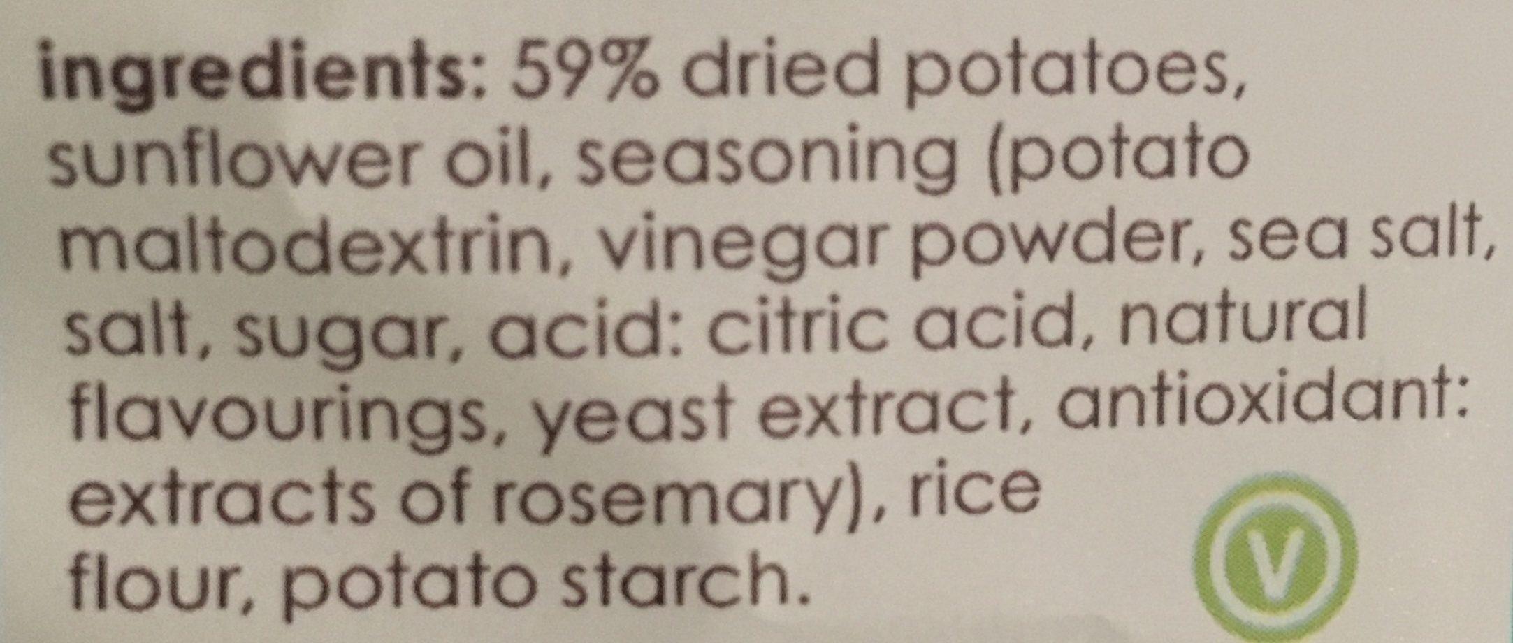 Sea Salt & Vinegar Potato Chips - Ingrédients - en