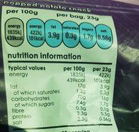 Popchips - Informations nutritionnelles - fr