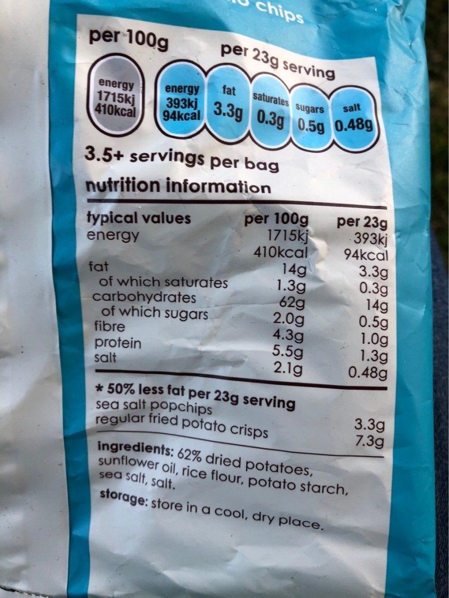 Sea salt - Voedigswaarden