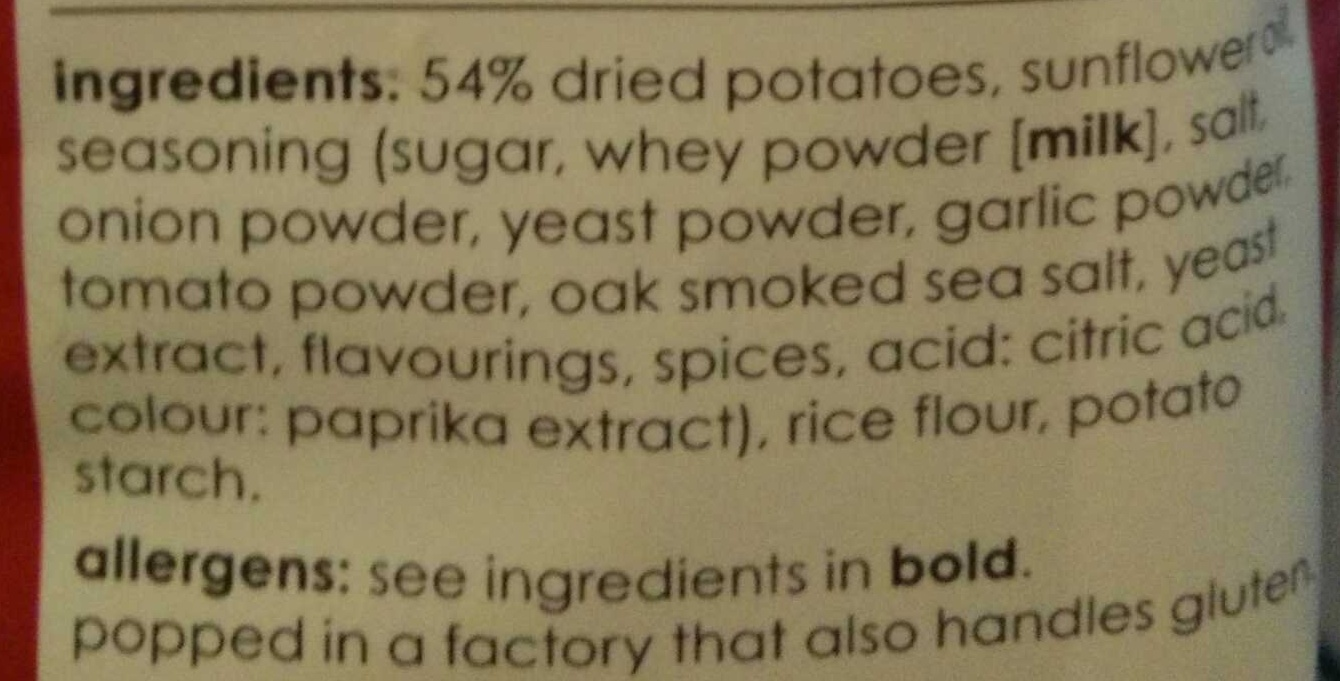 Barbeque Potato Chips - Ingrediënten