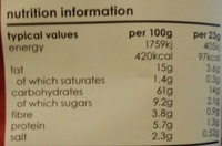 Barbeque Potato Chips - Voedigswaarden