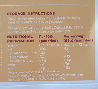 simply chicken - Nutrition facts - en