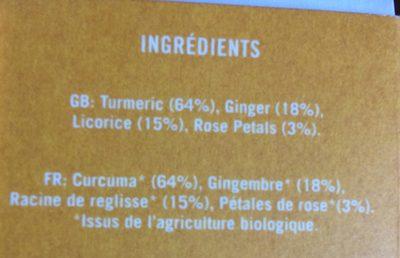 Golden Tumeric - Ingrédients - fr