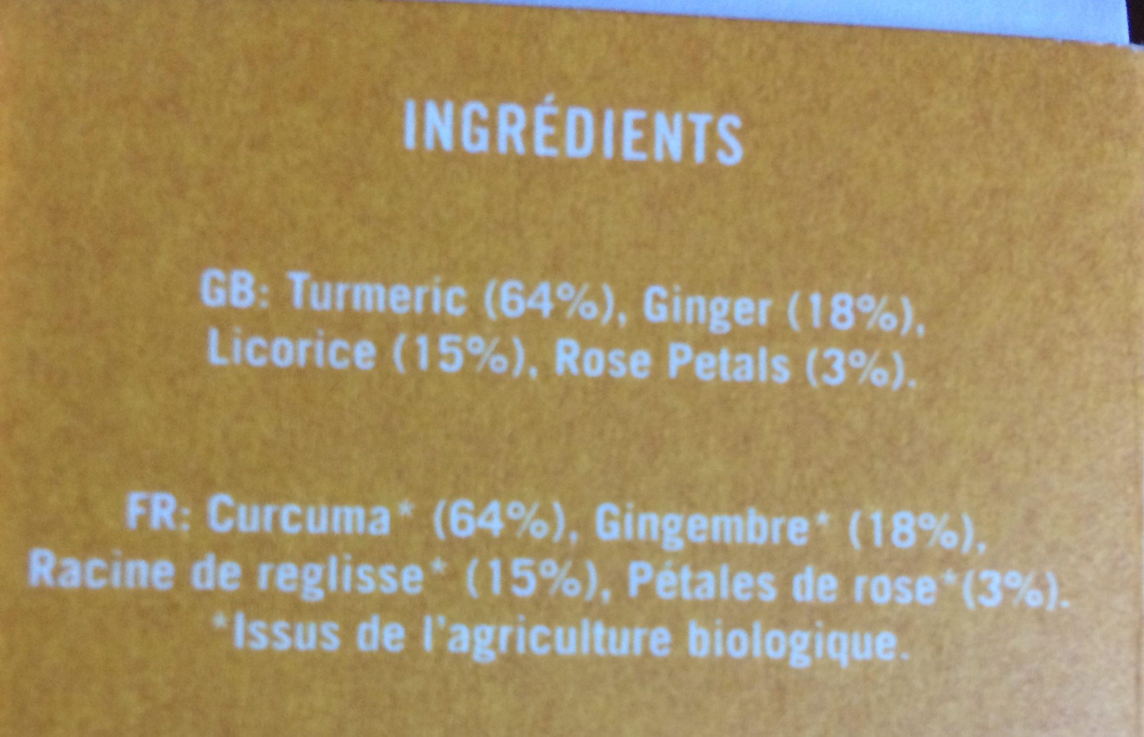 Golden Tumeric - Ingrédients