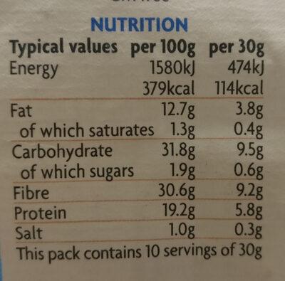 British Roasted Peas - Lightly Sea Salted - Informations nutritionnelles - en