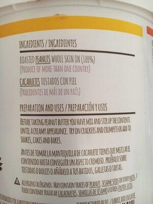 Peanut butter - Ingredientes
