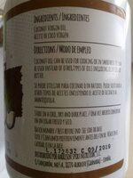 Aceite de Coco Virgen - Ingredients - es