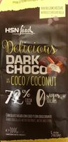 Dark choco with coco 72% - Producto - es