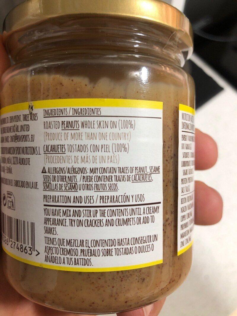 Peanut butter - Ingredientes