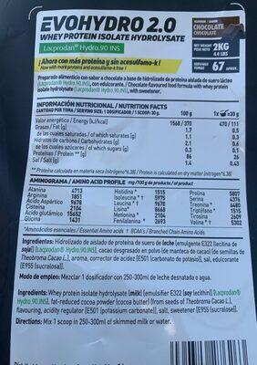 Hsn sport evoseries - Información nutricional - es