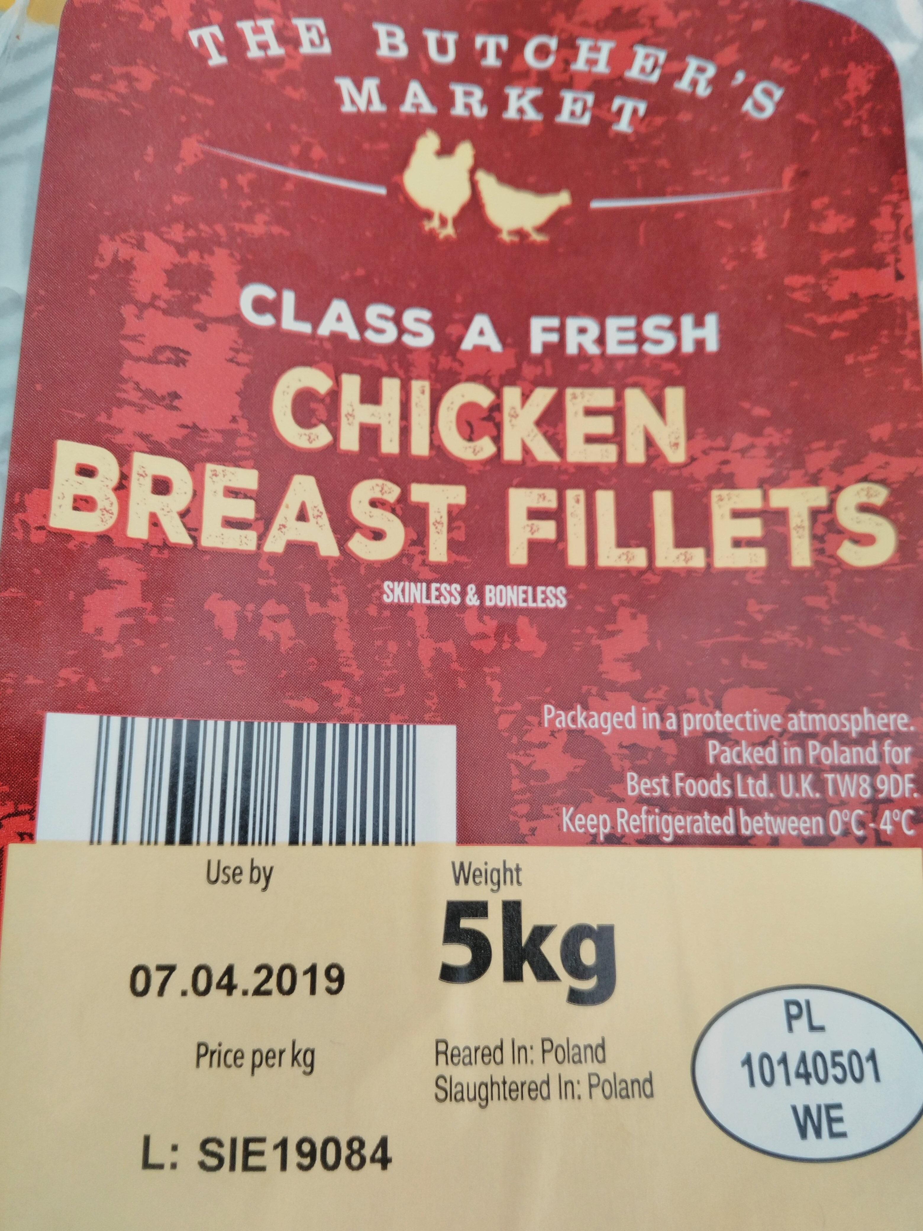 The Butcher's Market Class A Fresh Chicken Breast Fillets