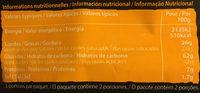 Chip strips goût paprika - Informations nutritionnelles - fr