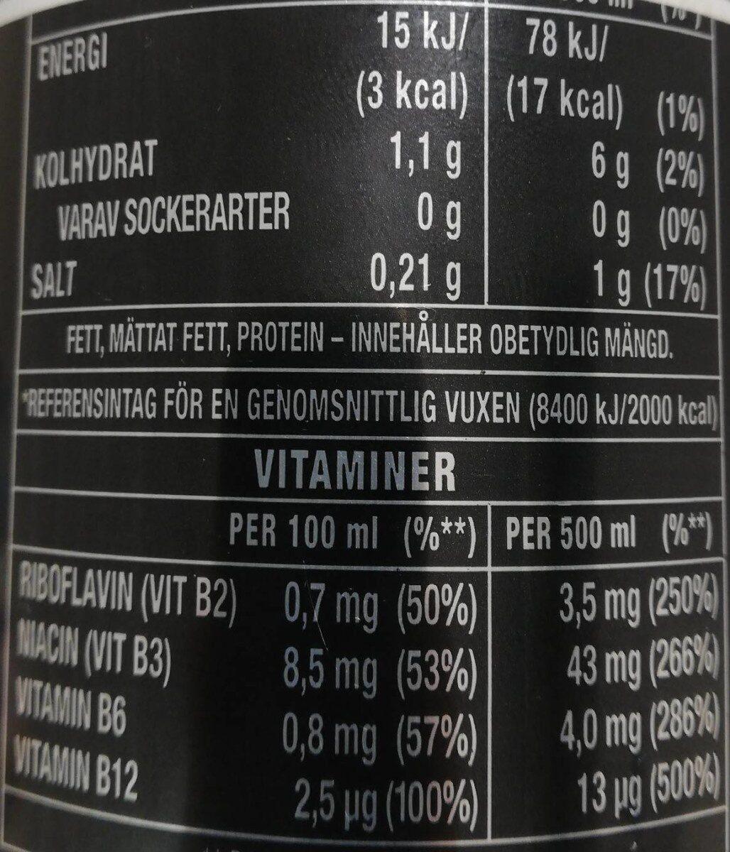 Monster Energy absolutely zero - Valori nutrizionali - sv
