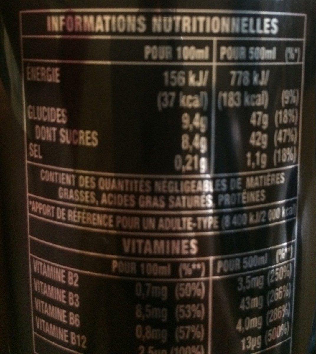 Monster Energy - Voedingswaarden
