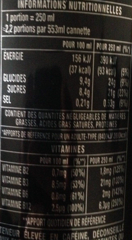 Mega Monster Energy - Informations nutritionnelles - fr