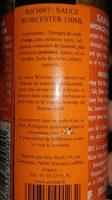 Sarson's Worcester Sauce - Ingrédients