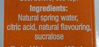Vivid Water in a Box Orange & Peach - Ingrédients