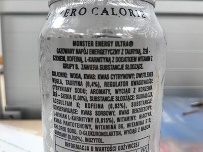 Monster energy ultra - Ingredients - en