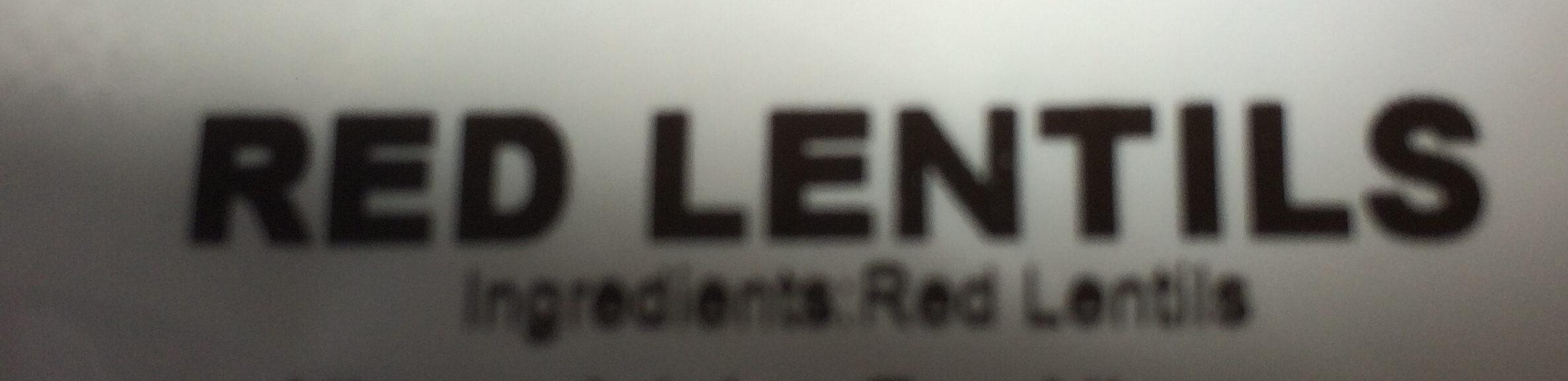 Red lentils - Ingredients
