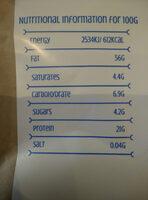 Almond flour - Informations nutritionnelles