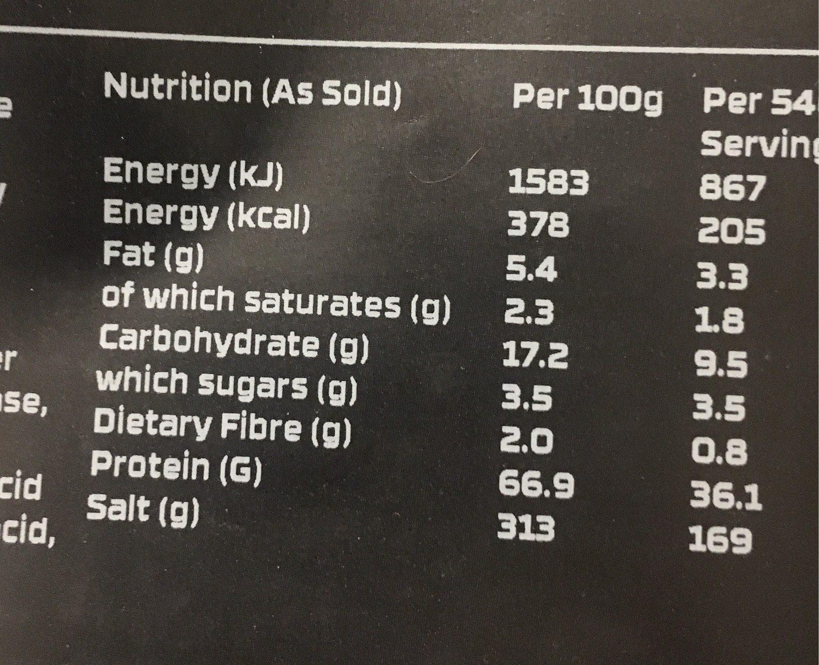 The Protein works vanille - Voedingswaarden - fr