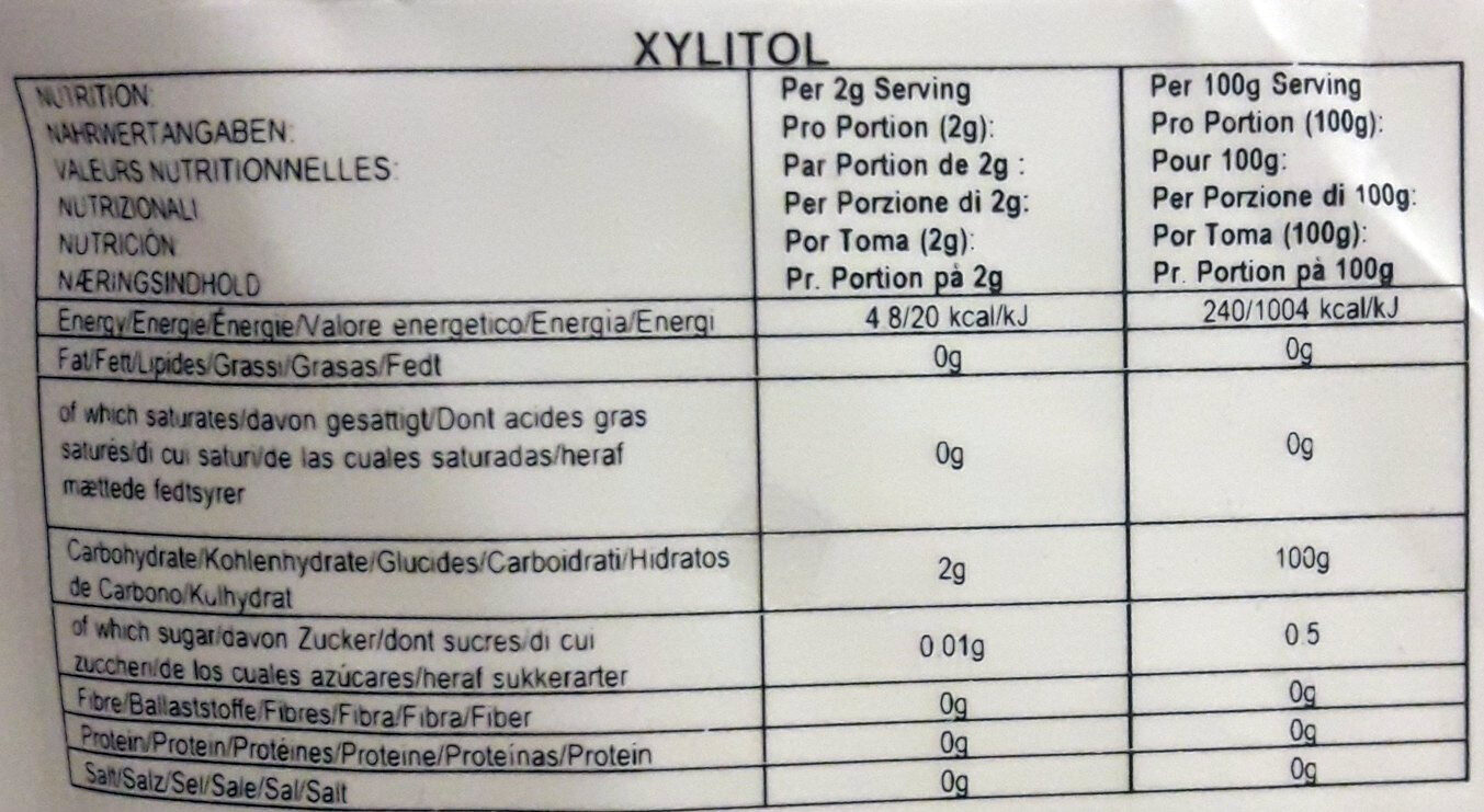 Xylitol - Ingredients - fr