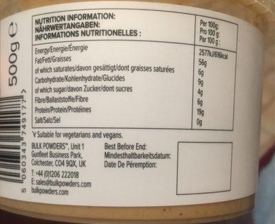 Triple Nut Butter, Almonds, Hazelnuts & Cashews - Informations nutritionnelles - fr