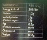 Liquid egg whites - Nutrition facts - fr