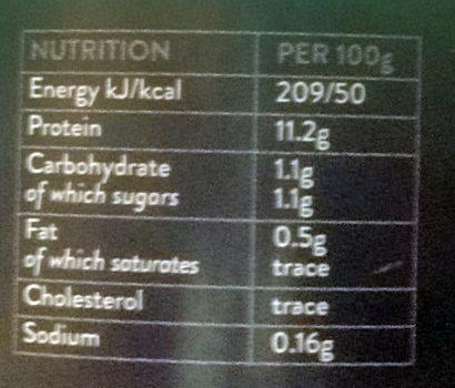 Blancs D'Œufs Liquides - Voedingswaarden - fr