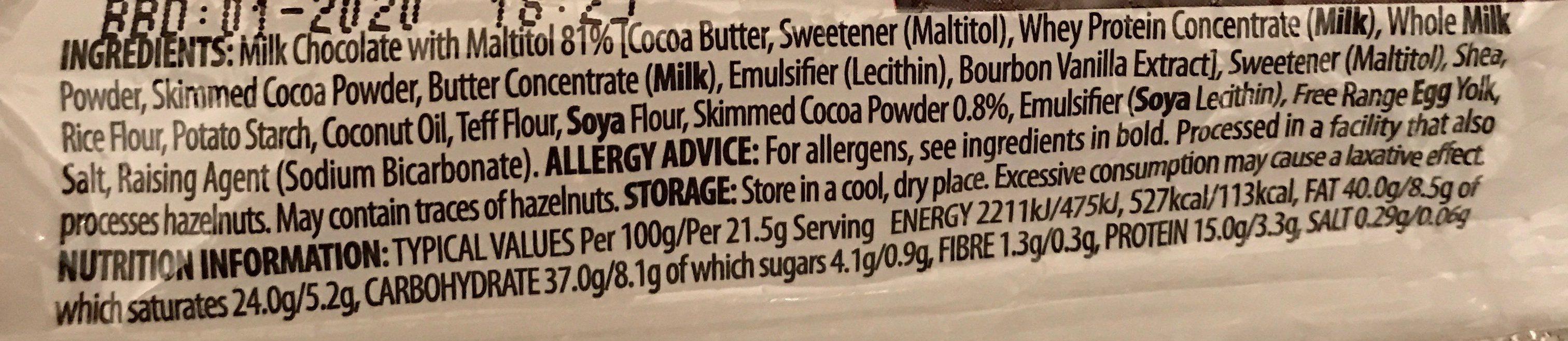 Protein break bar - Ingrédients